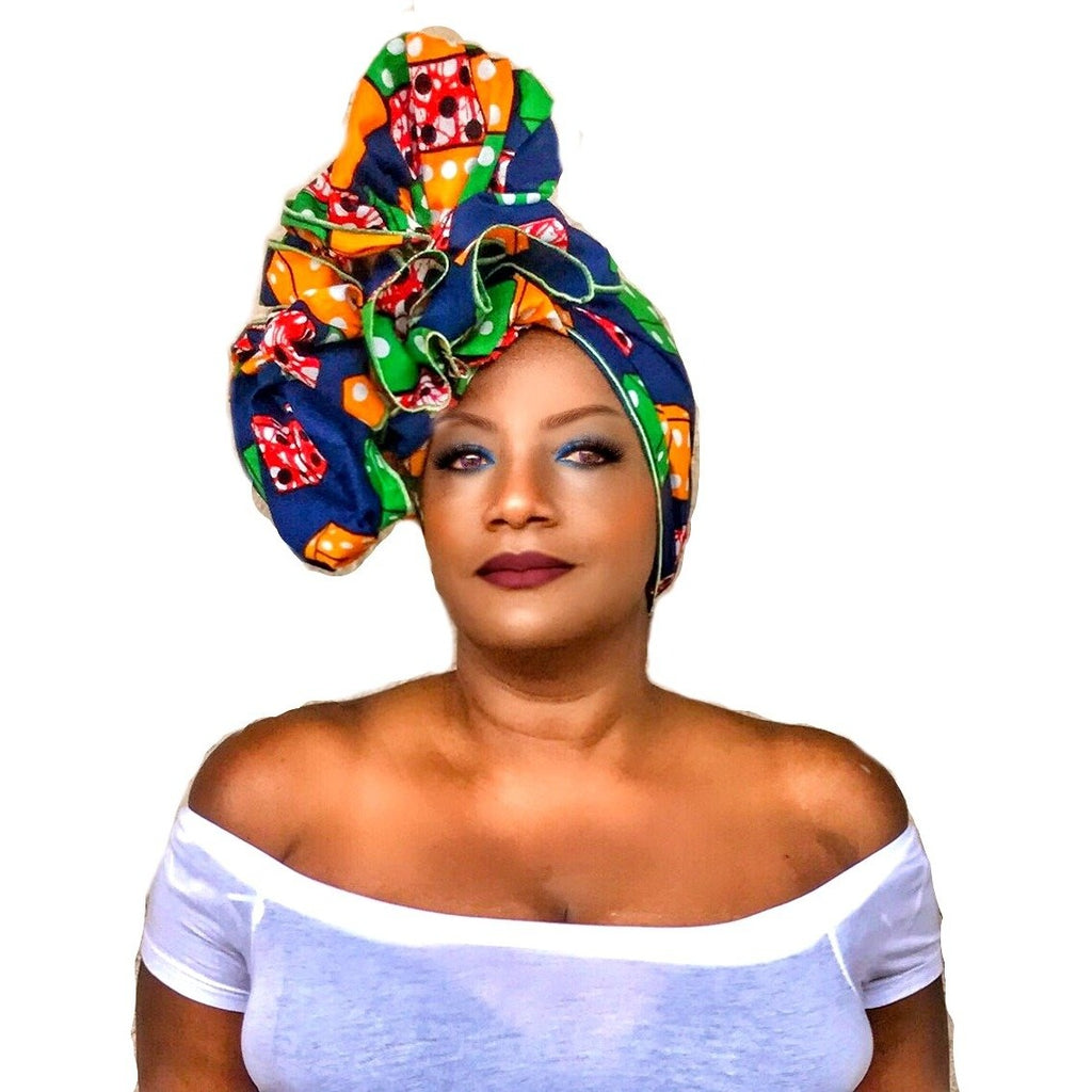 Ankara Print Headwrap~  The AZUBIKE