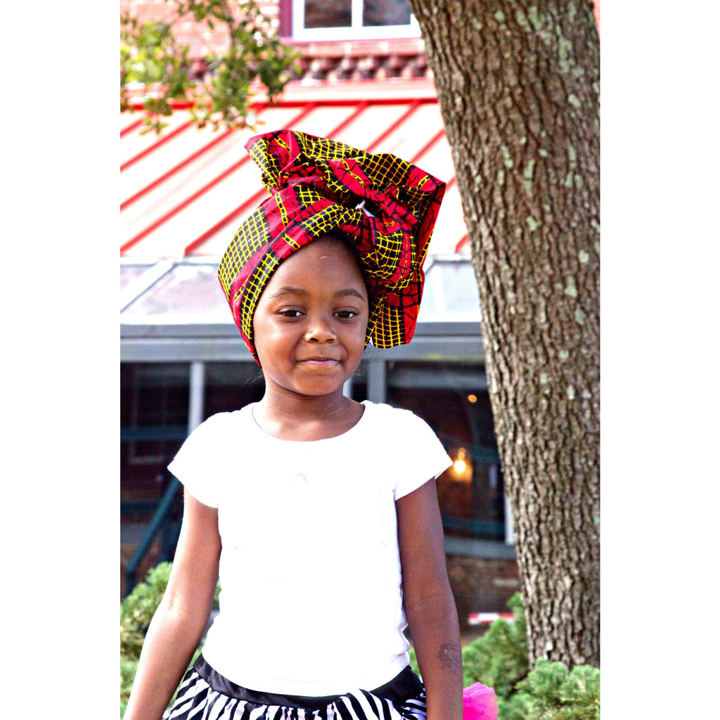 Imani Mommy And Me African HeadWrap - Zabba Designs African Clothing Store