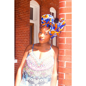 Amina African Print Head Scarves - Zabba Designs African Clothing Store