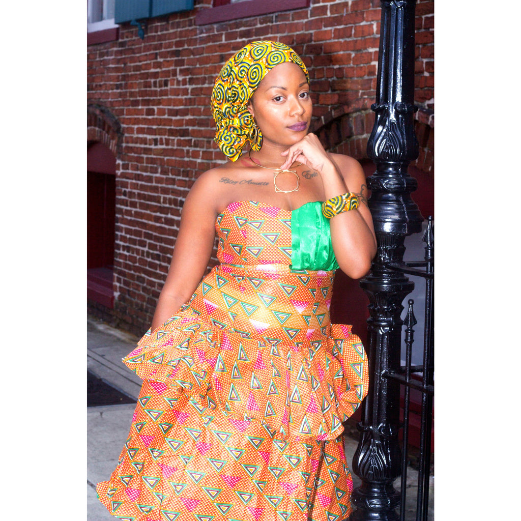 IMANI African  Midi Dress - Zabba Designs African Clothing Store  - 2