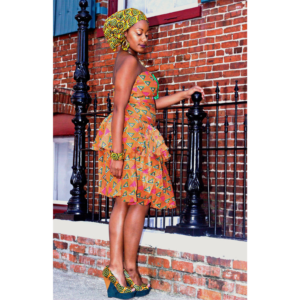 IMANI African  Midi Dress - Zabba Designs African Clothing Store  - 3