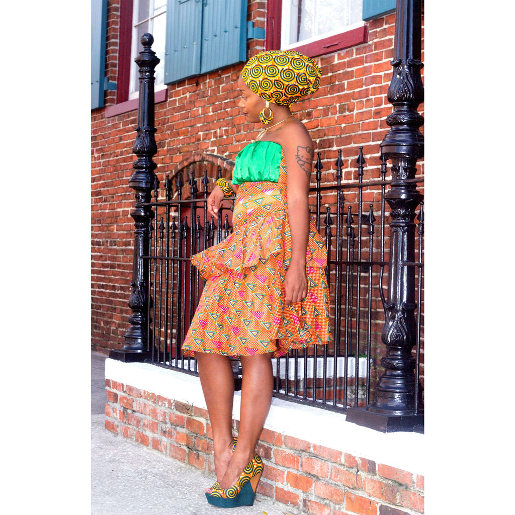 IMANI African  Midi Dress - Zabba Designs African Clothing Store  - 4