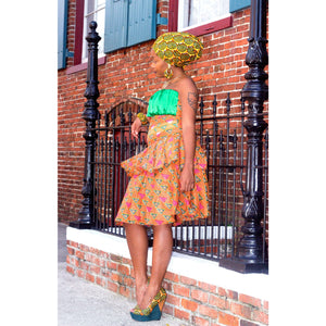 IMANI African  Midi Dress - Zabba Designs African Clothing Store