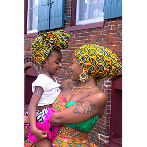 Ebele African Ankara Print HeadWrap - Zabba Designs African Clothing Store