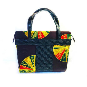 Ujoma African Print Top Handle Satchel Bag - Zabba Designs African Clothing Store