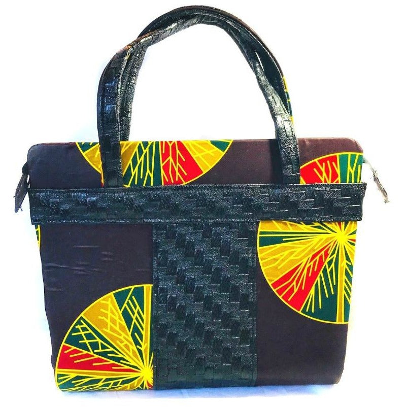 f6943e4fb3bd Ujoma African Print Top Handle Satchel Bag - Zabba Designs African Clothing  Store