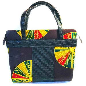 Ujoma African Print Shopper  Bag - Zabba Designs African Clothing Store