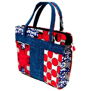 Kamah Traditional Print Beauty Tote Bag - Zabba Designs African Clothing Store