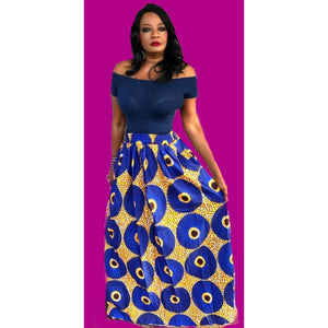 BLOSSOM African Print Maxi Skirt - Zabba Designs African Clothing Store
