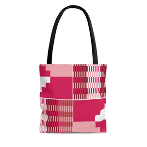 Pink  Kente Print Tote Bag - Zabba Designs African Clothing Store
