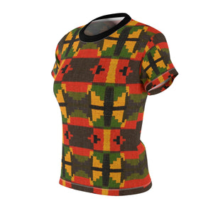 Tiffany Women's African Print Polyester  Tee - Zabba Designs African Clothing Store