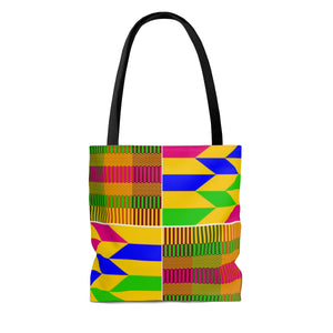 Yellow Kente Print Tote Bag - Zabba Designs African Clothing Store