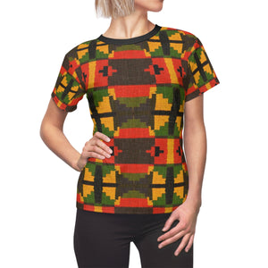Tiffany Women's African Print Polyester  Tee