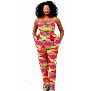Meme African Print Pant  Set - Zabba Designs African Clothing Store  - 1
