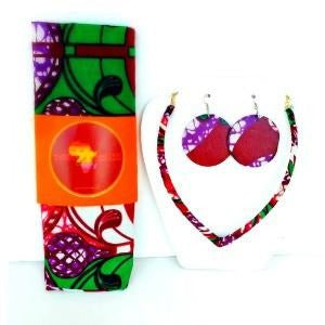 Ghana HeadWrap And Jewelry Set - Zabba Designs African Clothing Store