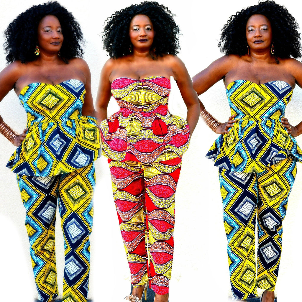 Meme African Print Pant  Set - Zabba Designs African Clothing Store  - 2