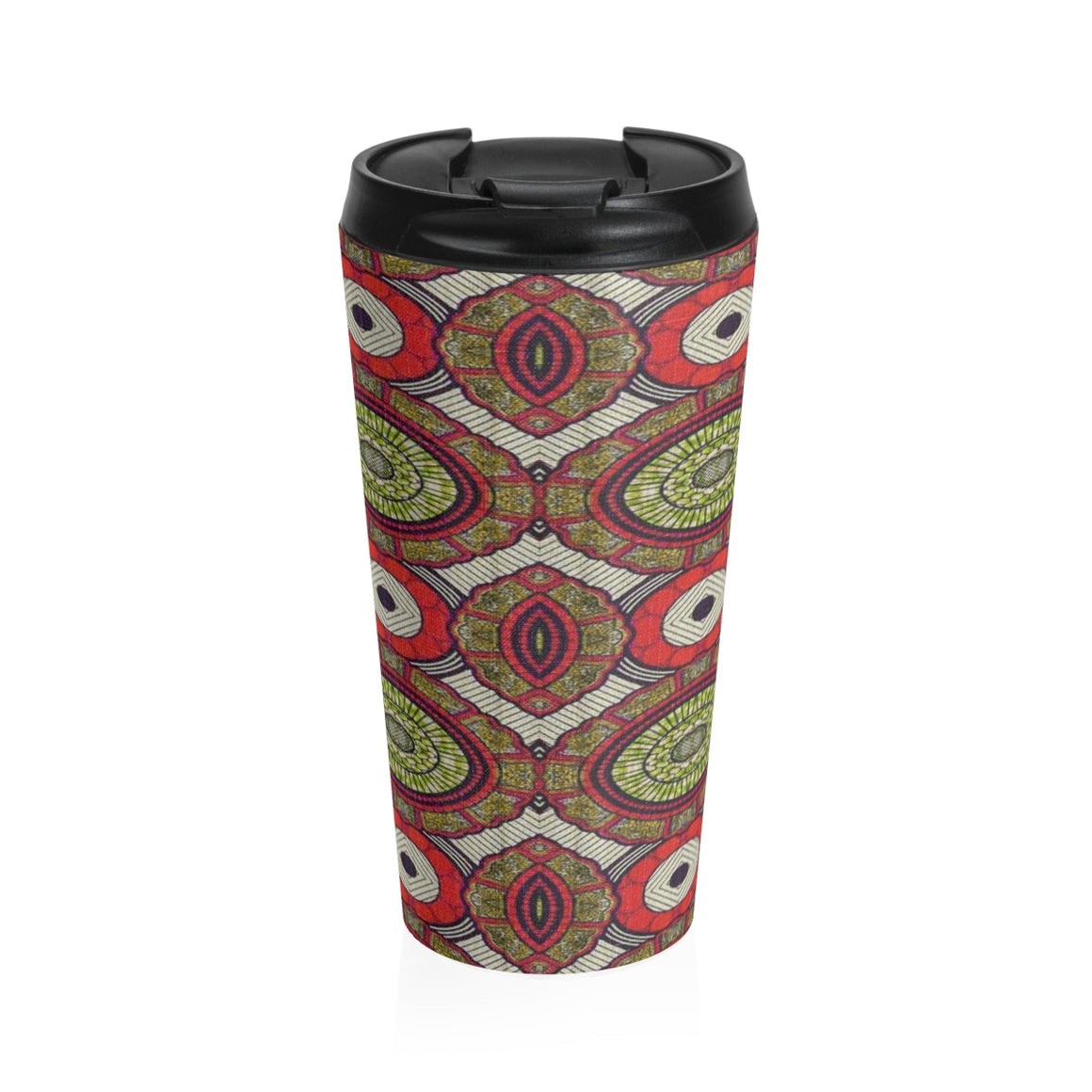 African Fashion Print Stainless Steel Travel Mug - Zabba Designs African Clothing Store