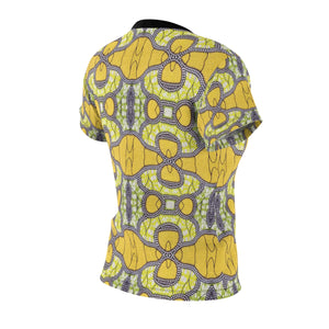 SunFlower Yellow Women's African Print Polyester  Tee - Zabba Designs African Clothing Store