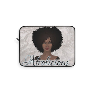 Melanin Poppin Natural Hair Afro Art Black Woman Laptop Sleeve - Zabba Designs African Clothing Store