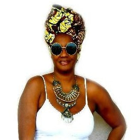 Yellow Amani Headwrap - Zabba Designs African Clothing Store