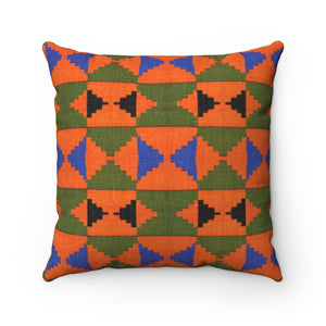 Zara Kente Print Spun Polyester Square Pillow - Zabba Designs African Clothing Store