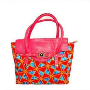 Yuva Pink Top Handle Bag - Zabba Designs African Clothing Store