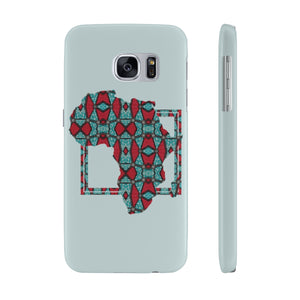 Blue Ankara Case Mate Slim Phone Cases - Zabba Designs African Clothing Store