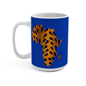 Yellow Map Of Africa Designer's  Coffee Mug - Zabba Designs African Clothing Store