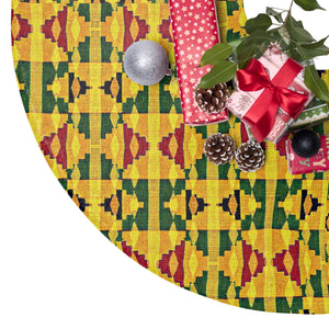 Joy Kente Print Christmas Tree Skirt - Zabba Designs African Clothing Store