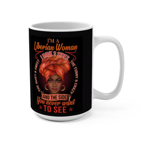 Liberian Woman  Designer's  Coffee Mug - Zabba Designs African Clothing Store