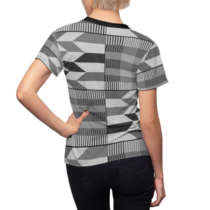 Ma Nora Women's Kente African Print Polyester  Tee