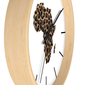 Animal Print Map Of Africa Wall clock - Zabba Designs African Clothing Store