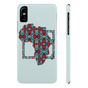 Blue Ankara Case Mate Slim Phone Cases