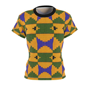 Ma Sarah Women's African Print Polyester  Tee - Zabba Designs African Clothing Store