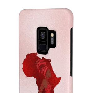 Pink And Red African Inspired Case Mate Slim Phone Cases - Zabba Designs African Clothing Store