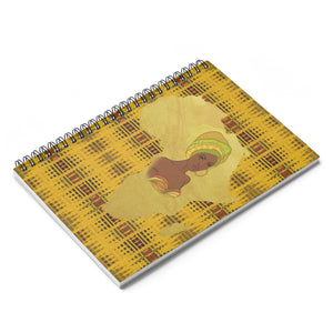 Yellow Map Of Africa Spiral Notebook - Ruled Line - Zabba Designs African Clothing Store