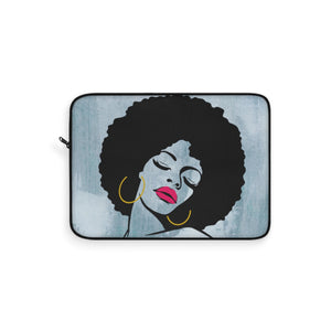 Melanin  Fro Chick Laptop Sleeve - Zabba Designs African Clothing Store