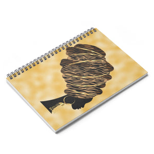 Queen Headwrap Spiral Notebook - Ruled Line