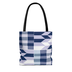Blue Women's Kente Print Tote Bag - Zabba Designs African Clothing Store