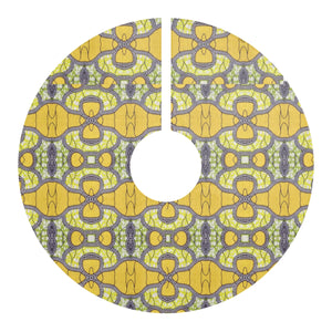 Yellow African Fashion  Christmas Tree Skirt - Zabba Designs African Clothing Store