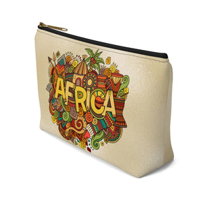 African Inspired Make up Pouch w T-bottom - Zabba Designs African Clothing Store