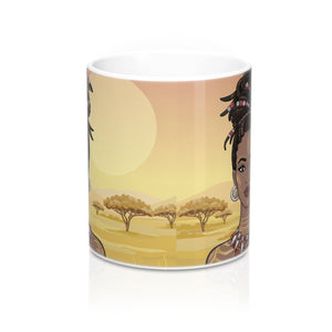 Black Afro Queen Coffee Mug - Zabba Designs African Clothing Store