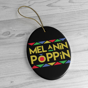 Melanin Poppin Yellow And Orange Ceramic Ornaments