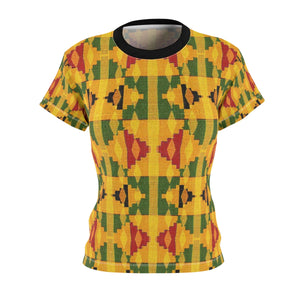 Bassa Women's African Print Polyester  Tee - Zabba Designs African Clothing Store