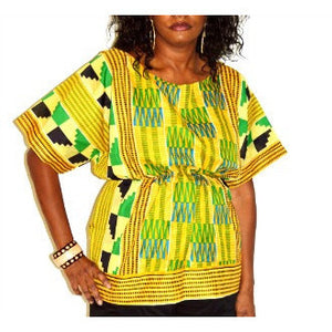 Kente Boho Scoop Neck Top - Zabba Designs African Clothing Store