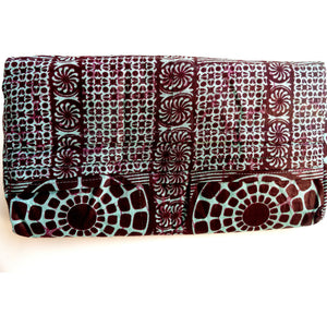 African Designer Clutch Bag Blue and Gray - Zabba Designs African Clothing Store