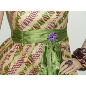 Green And Brown Cocktail Dress - Zabba Designs African Clothing Store