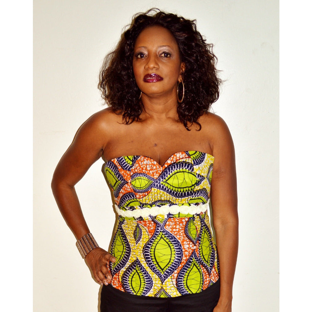 Party Ankara African Wax Print Blouse - Zabba Designs African Clothing Store