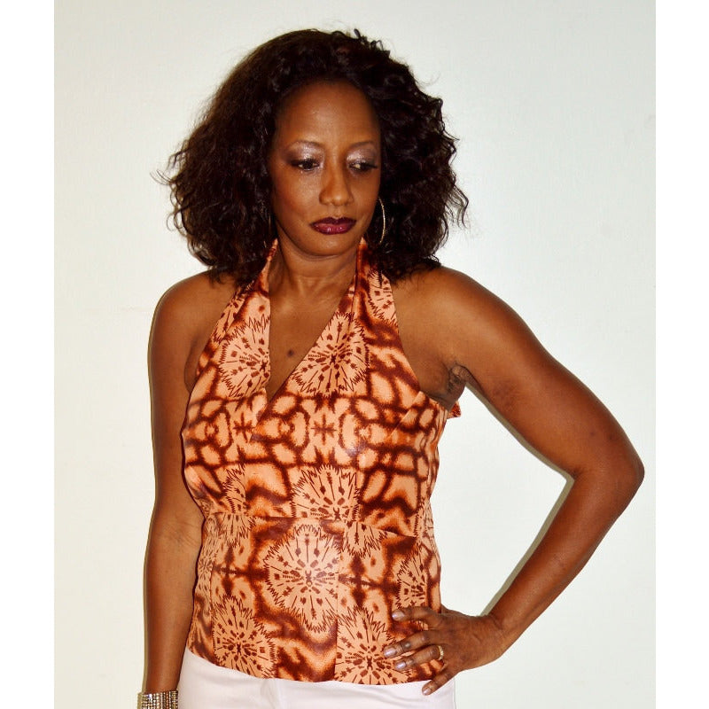 Brown Halter Top - Zabba Designs African Clothing Store