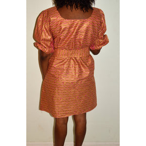 Brown And Pink Ankara Print African Dress - Zabba Designs African Clothing Store